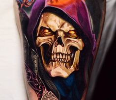 Skeletor from He-man tattoo by Ben Ochoa