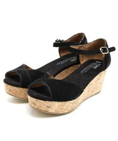 FREAK'S STORE WOMENS / TOMS/トムス PLATFORM WEDGES SUEDE (サンダル)