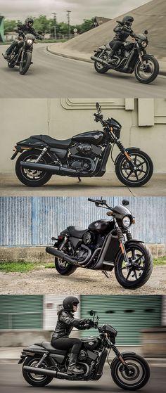 Take on traffic in style. #HDStreet 750 & 500.   Harley-Davidson #DarkCustom