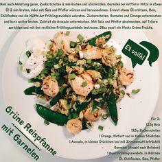 Rezept für Grüne Reispfanne mit Garnelen, et voilà!