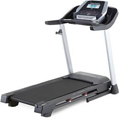 2.5 CHP Mach Z Commercial Motor, 20″ x 55″ Tread Belt, ProShox Cushioning, Space Saver Design, 5″ Backlit Display 10 MPH Quick Speed Control, 10% Quick Incline Control, 18 Workout Apps, Grip Pulse EKG Heart Rate Monitor 300 Lb. Weight Capacity, CoolAire Workout Fan, 1.9″ Precision Machined and Balanced Non-Flex Rear Roller