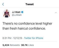 "Wahl Professional USA on Instagram: ""We think @jjwatt nailed on this one! Double tap if you agree!!! #wahl #wahlpro #barber #barbers #haircut #jjwatt"" Confidence Level, Jj Watt, Barbers, Hair Humor, Double Tap, Hair Cuts, Usa, Instagram, Haircuts"