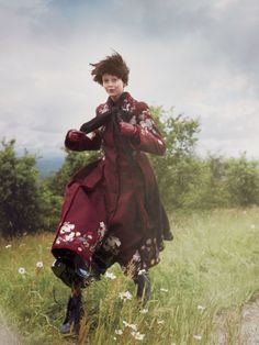New Romantics - Rianne Von Rompaey & Natalie Westling by David Sims for Vogue US September 2016 - Erdem