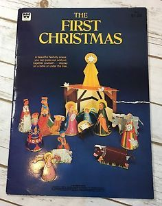 Vintage The First Christmas Nativity Scene Die Cut Punch Out Book 1982 Whitman  | eBay