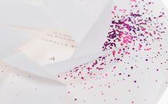 Vellum, card insert, foil stamp mimics glitter
