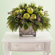 {diy Wedding Ideas} Seasonal Green Apple Centerpiece
