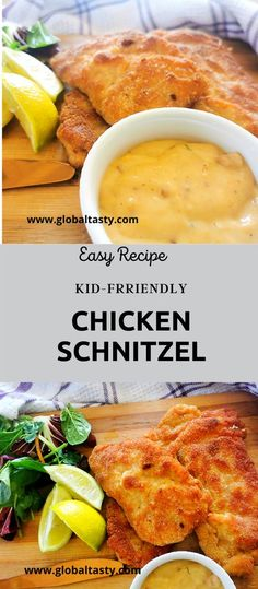 The key to this easy chicken schnitzel recipe is in the coating. This is what sets it apart from any other chicken schnitzel you've ever tried. The combination of tang and spicy flavours against the succulent tenderized breast is a crowd-pleaser.