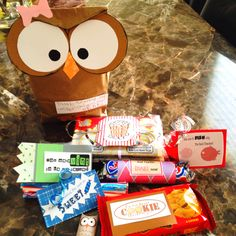 """""""thanks for making me wiser, owl miss you!"""" filled with other candy sayings, copy-cat from previous pin! Back To School Gifts For Teachers, Presents For Teachers, School Fun, School Days, School Stuff, Candy Quotes, Candy Sayings, Owl Quotes, Preschool Teacher Gifts"""