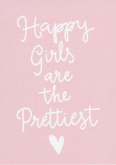 Happy Girls Are The Prettiest Print Audrey Hepburn Quote Teen Girl Wall Art Nursery Art Girls Room Print Inspirational Minimalist Decor by violetandalfie on Etsy
