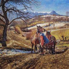 Oil on Canvas . x 120 cm) Oil On Canvas, Horses, Fine Art, Artist, Artwork, Painting, Animals, Work Of Art, Animaux