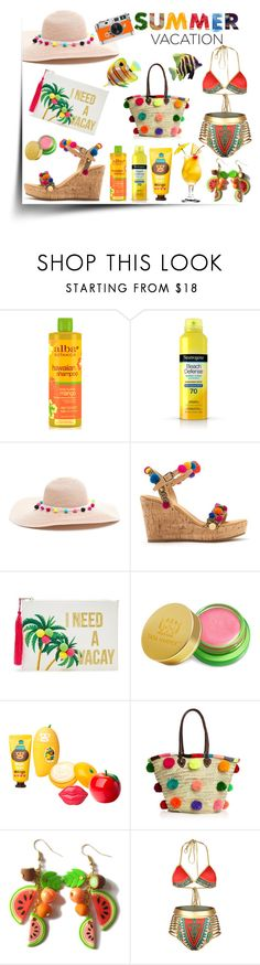 """Tropical Summer Vacation"" by danniellebuckley ❤ liked on Polyvore featuring Alba Botanica, Neutrogena, Mabu, Hermès, Forever 21, Tata Harper, Tony Moly, Soeur Du Maroc, polyvoreeditorial and polyvorecontest"