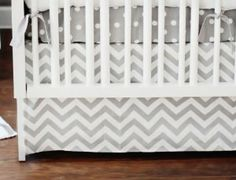 Inspired by the newly popular chevron pattern, This Zig Zag baby crib bedding will give your nursery a modern, clean look. Crisp white and grey lends a fresh feel to your new babys room. This grey baby bedding can work for a boy or a girl. Chevron Baby Bedding, Baby Crib Bedding Sets, Nursery Bedding, Baby Cribs, Girl Nursery, Tribal Nursery, Elephant Nursery, Home Deco, White Crib Skirt