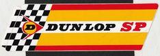 DUNLOP SP TYRE ORIGINAL PERIOD STICKER AUTOCOLLANT AUFKLEBER LOGO 21cm x 6.5cm Racing Stickers, Logos, Race Cars, Decals, Sticker, Automobile, Drag Race Cars, Tags, Logo
