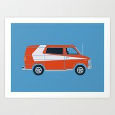 Gran Van Torino Art Print by Brandon Ortwein - $15.00