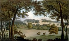 Water at Wentworth, Yorkshire (before) by Humphry Repton, 1803
