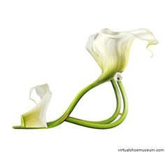 Calla Lily Shoes...  Weird, but oddly elegant.