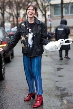 Street looks at Paris Fashion Week Fall/Winter 2016-2017
