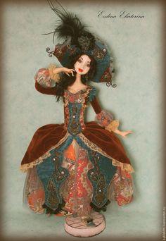 """Купить Коломбина """"Франческа """" - разноцветный, коломбина, авторская кукла, интерьерная кукла"""
