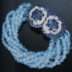 Cartier Paris Aquamarine Sapphire Bracelet by Clive Kandel, via Flickr
