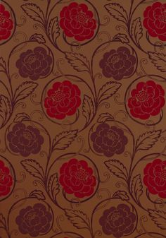 MORRISTOWN, Red with Metallic, T9183, Collection Avalon from Thibaut