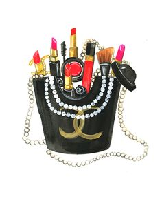 "LINE BOTWIN ""Girly illustrations# #chic #fashion #girly #illustration Chanel fry day illustration by Rongrong DeVoe.JPG"