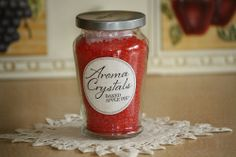 Celebrating Home Aroma Crystals 5 oz Jar with Sachet NEW Baked Apple Pie