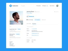 Day 006  Profile Page by Andrey Saprykin