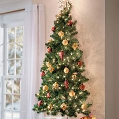 5 ft wall christmas tree the flat back design means you - Flat Back Christmas Tree