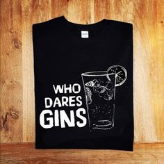 Gin: Who Dares Gins. Mr Jolly Lives Next Door T-shirt. Comic Strip, Rik Mayall, Peter Cook, Cotton Tee. Ideal for those long, liquid lunches at the Neon Tepee when you are... #british #gin #london #t-shirt