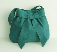Vente  Teal chanvre/coton sac Cabas sac à main par tippythai, $34.00