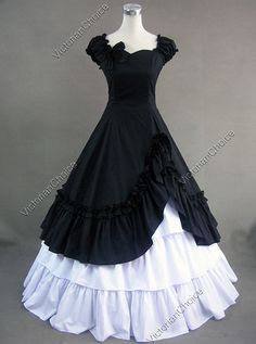 basically the goth version of Belle's dress from Beauty and the Best