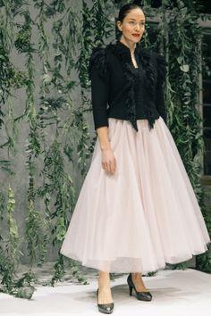 Muotikuu vaalea roosa tyllihame/ Muotikuu`s rose tulle skirt.  Picture: Juuso Santala