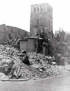 Harju street, 1944, bombed by Soviet women pilots on March, the 9th