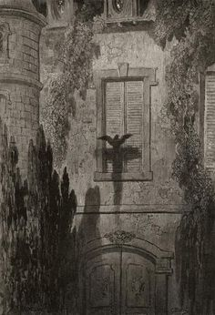 Gustave Doré (French, 1832-1883), illustration for Edgar Allan Poe's The Raven