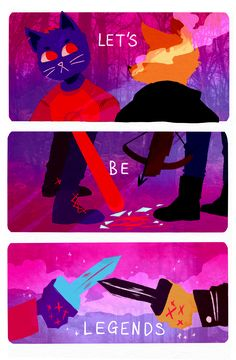 Night In The Woods Mae and Gregg fanart by threehairs on Tumblr