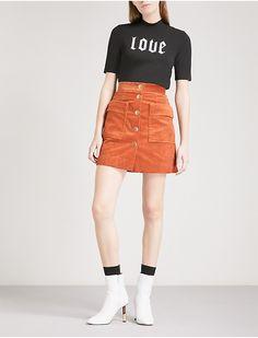 MO&CO. - A-line corduroy mini skirt   Selfridges.com
