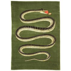 Serpente [carpet] by Piero Fornasetti produced by Roubini Rugs - 1955