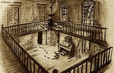 Dining room sketch from the Haunted Mansion