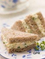 Deviled Egg Tea Sandwiches Recipe