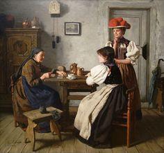Erdmann, Otto (b,1834)- At Fortune Teller's, 1900