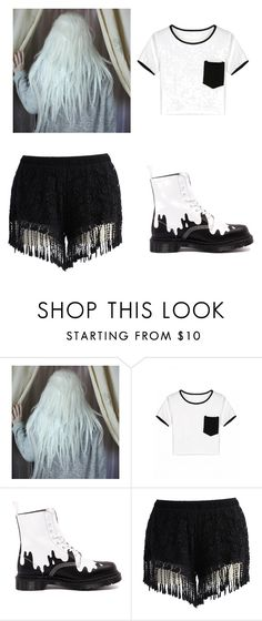 """Untitled #41"" by kwon-jaylin ❤ liked on Polyvore featuring Dr. Martens and Chicwish"