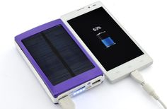 Portable Charger 15000mAh Solar Power for Smartphones and Tablets