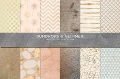 Sundrops & Gold Glimmer Textures by Blixa 6 Studios on @creativemarket