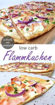 Flammkuchen low carb  Ein einfaches low carb Rezept. Perfekt zum Abnehmen im Rahmen einer low/ lchf/ keto Ernährung. In meiner Rezeptübersicht findet ihr weitere über 250 leckere low carb Rezepte