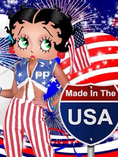 Betty Boop ~ Made in The USA  #illustration ✿⊱╮
