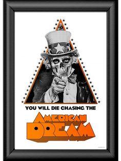 """American Dream"" Poster Print by Skygraphx #inked #inkedshop #inkedmagazine #decor #art"
