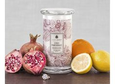 """Citrus Pomegranate Candle- use """"welcome"""" for 15% off- """"or classic"""" for buy 2 candles get 1 free"""