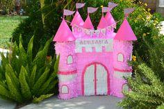 Pink Princess Castle Hand Made Custom Pinata by angelaspinatas  https://www.etsy.com/shop/angelaspinatas Www.facebook.com/angelaspinatas @angelaspinatas  http://instagram.com/angelaspinatas