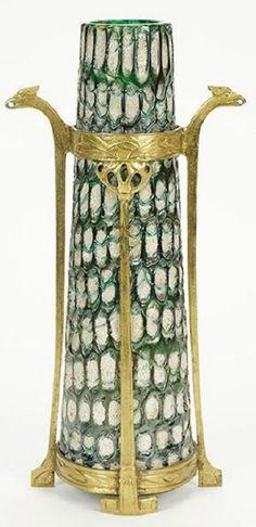 Koloman Moser (Austrian, 1868-1918) A Loetz Vase. Leopold Bauer and Koloman Moser designed this Loetz vase for Baklowitz