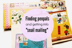 With my blog segment, Good Mail Days, posting somewhat regularly I receive quite a few emails asking how I get such great penpals, or how can one get into snail mailing? So I'm here to answer some of